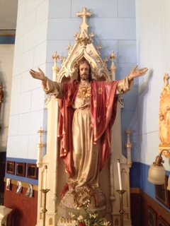 Plaster Restoration - Sacred Heart Christ Statue - Historic St. Ann's, Westboro, WI