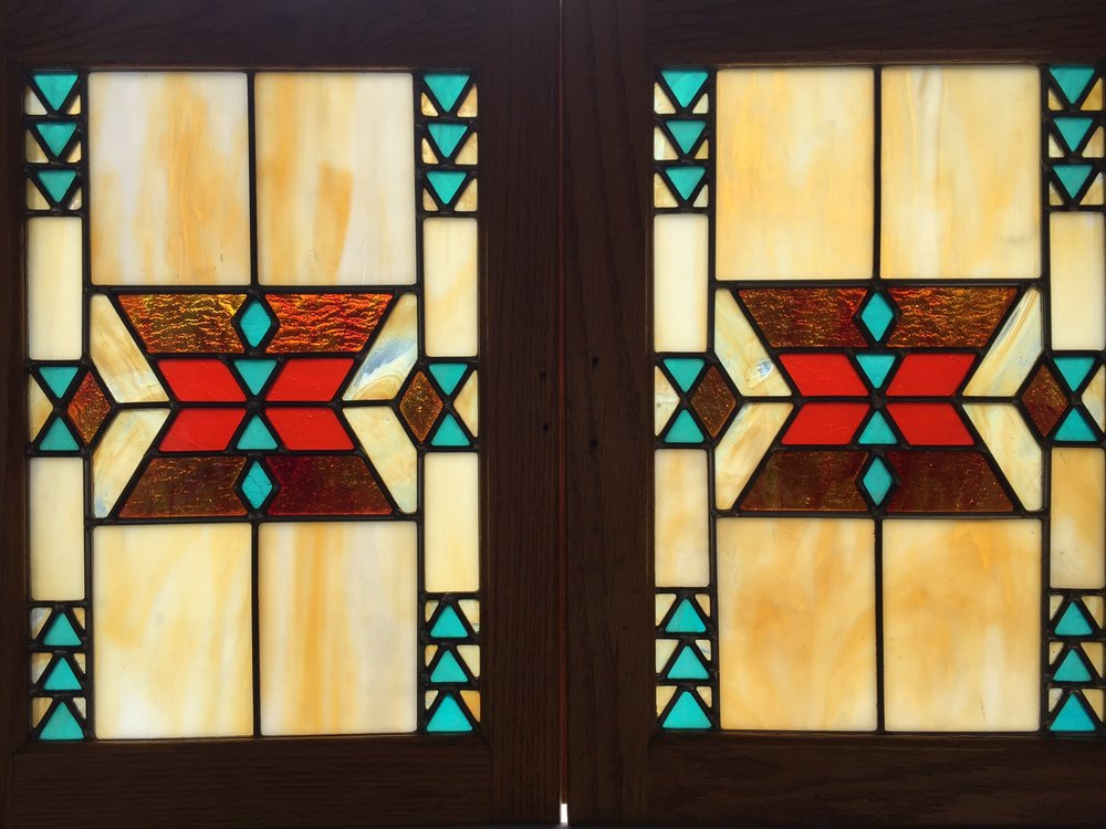 Southwestern Blankets Stained Glass, Younger Home, Ogema, WI