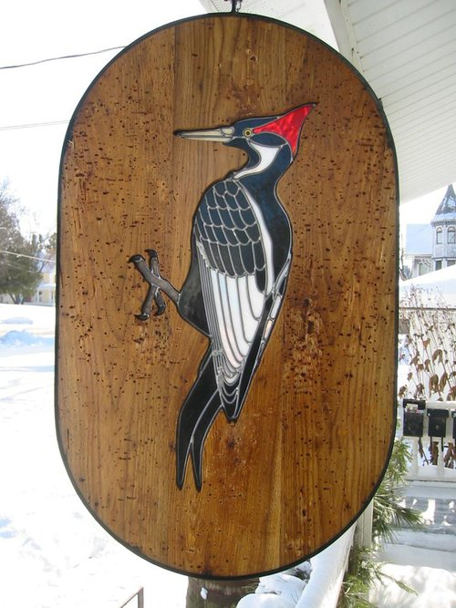Stained Glass Ivory Billed Woodpecker