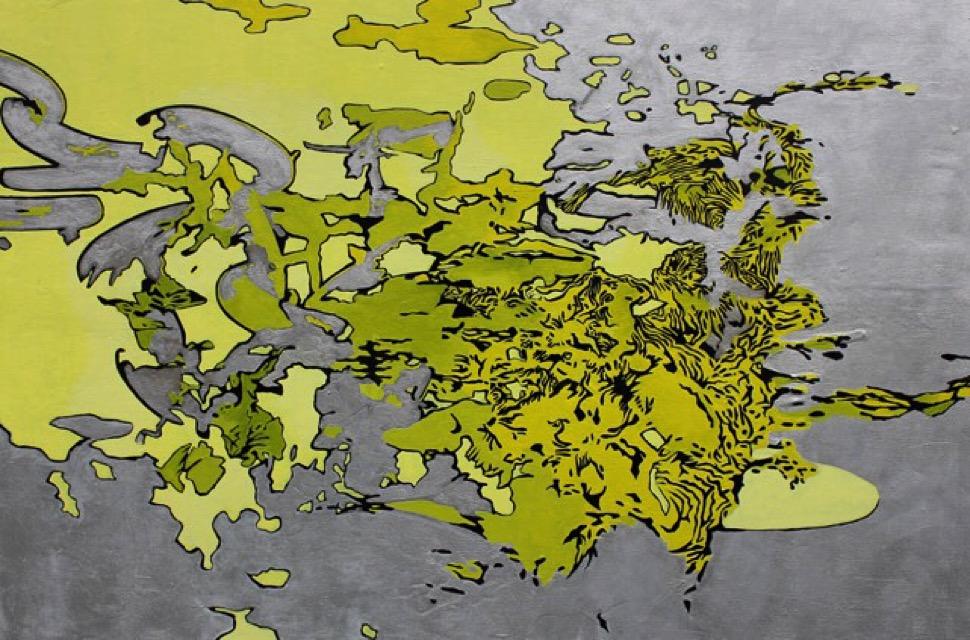 """""""CONFLUENCE"""", 24"""" X 36"""", O/C, 2014"""