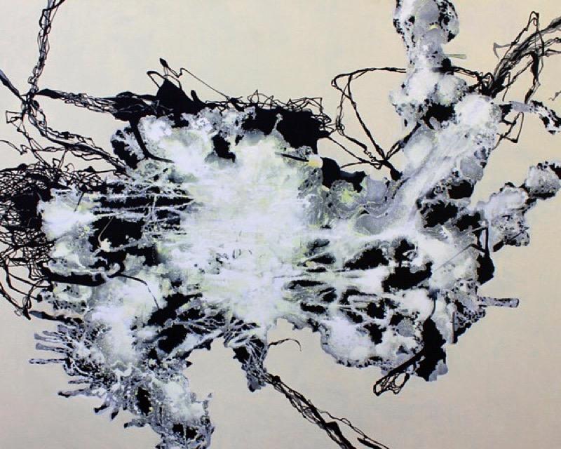"""""""POUF"""", 60"""" X 48"""", A/C, 2015"""