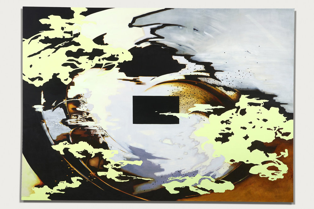 """FUBAR UNIVERSE"", 60"" X 72"", O/C, 2016"