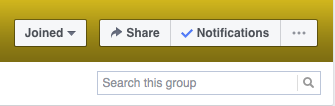 Quickly search your topics in Facebook groups by using the Search function