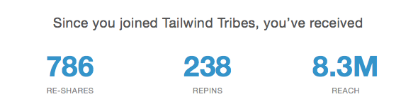 Tailwind Tribes have largely contributed to my Pinterest traffic growth.