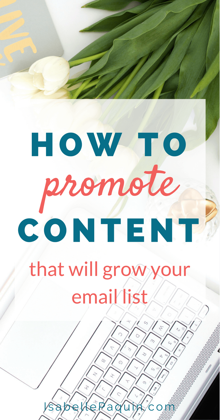 How to Promote Content that Will Get You More Email Subscribers