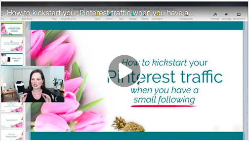 Pinterest Traffic | Do you have a small following? Learn how to kickstart your Pinterest traffic even if you have few followers. FREE WORKSHOP. #pinterestmarketing #pinteresttips