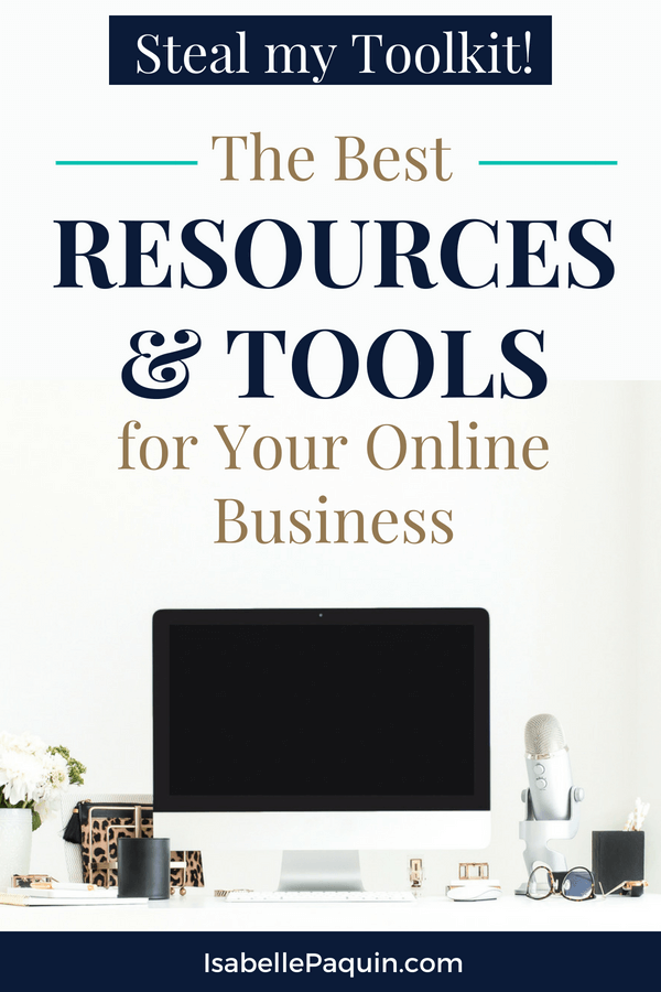 Steal my Toolkit! Find out the 10 Best Resources & Tools to Grow your Business. Entrepreneurs will see the tools I use for marketing my small online business. #entrepreneur #smallbusiness