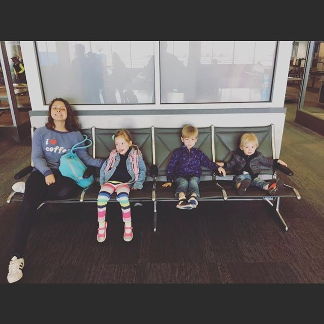 #FBF to the cutest, bestest 'lil nuggets on the planet waiting for their airbus to FL. Miss them!