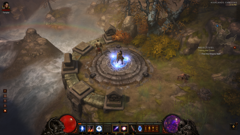 In the future, all games will look like they're played on concept art!   But seriously, Diablo 3's art direction is incredible…   (And yes, this is from me playing, not some standard screenshot ;-)