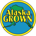 This is the logo for Alaska grown produce but also can be seen on clothing, a popular fashion statement many Alaskans like to wear.