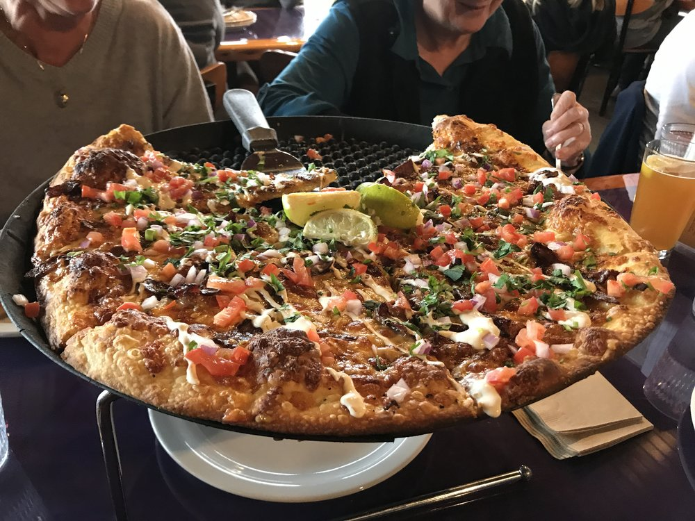 The delicious pizza from Moose's Tooth!
