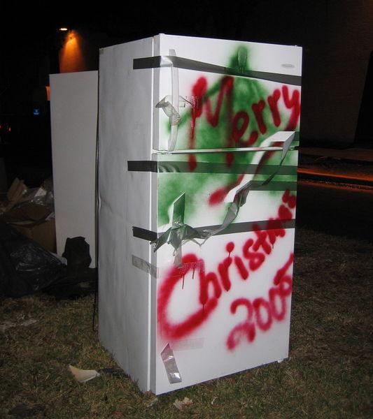 Fridges still up for Christmas 2005, 4 months after Katrina.