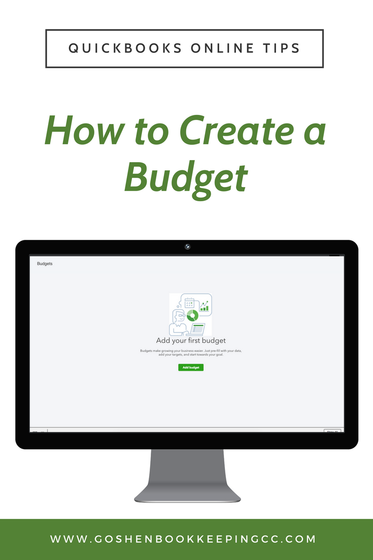 how to create a budget in quickbooks online goshen bookkeeping