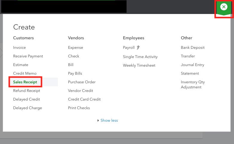 QuickBooks Online Sales Receipt Dashboard.png