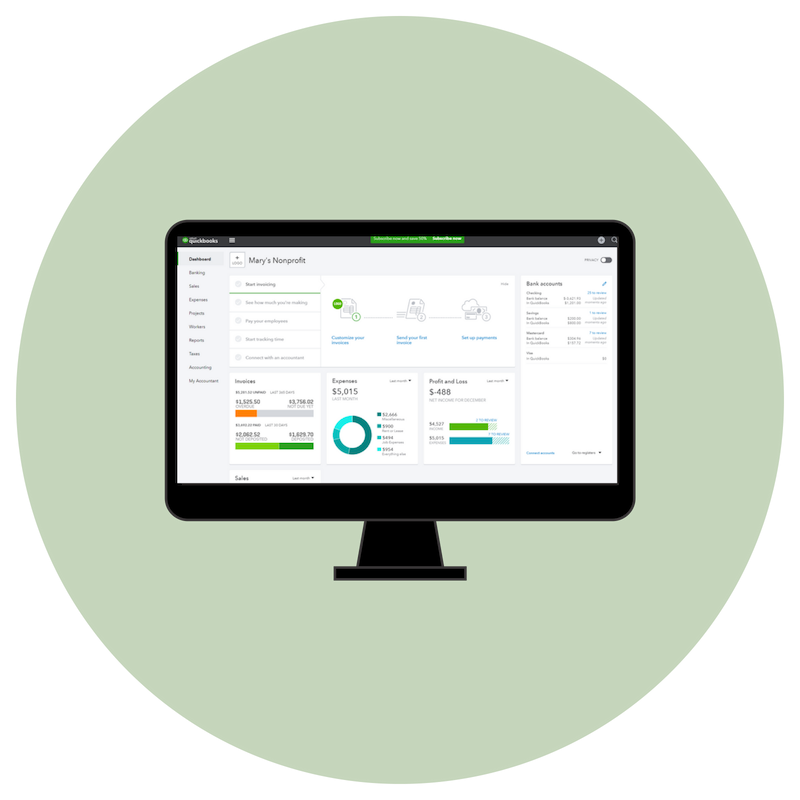 QuickBooks Online for Your Nonprofit
