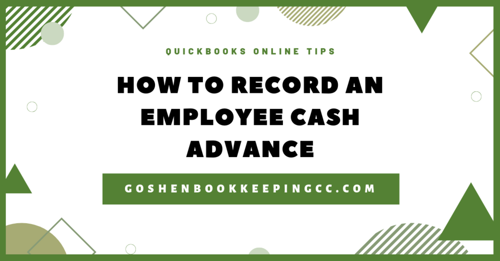 QuickBooks Online: Record an Employee Cash Advance (Non