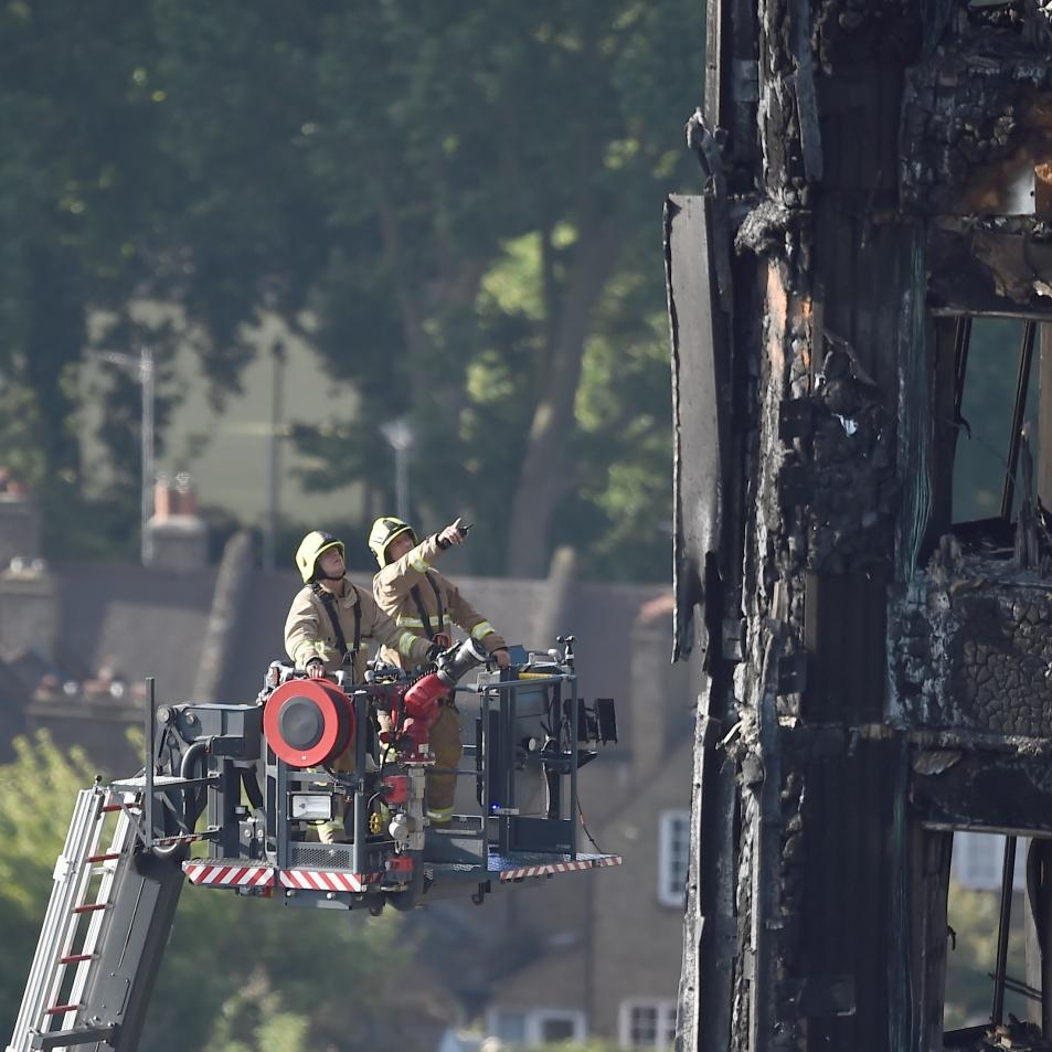 LONDON FIREFIGHTERS USED DRONE TO BATTLE GRENFELL TOWER BLAZE 6/16/17 Newsweek