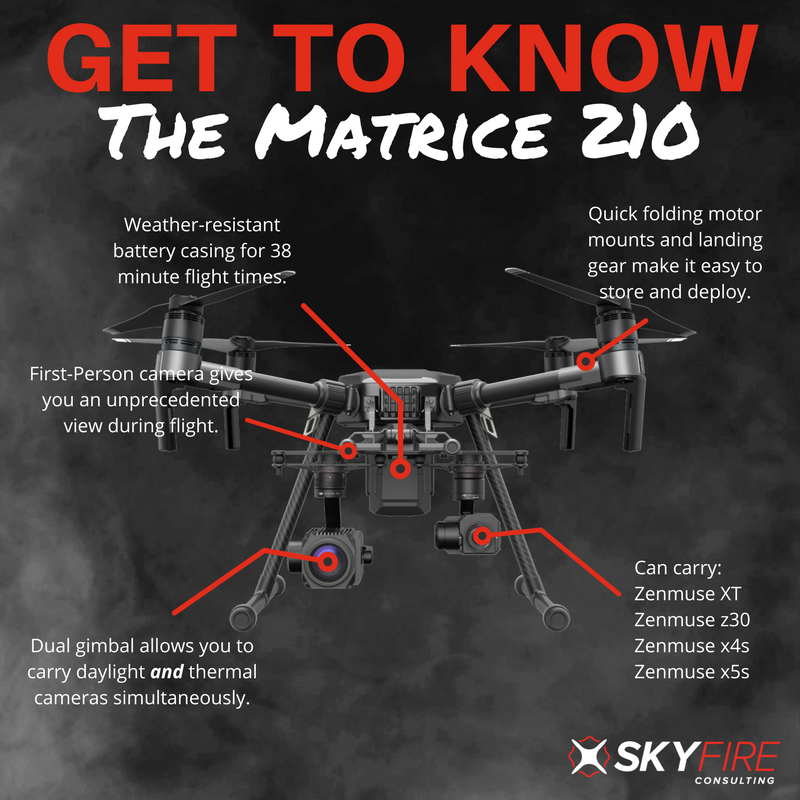 Get to know the DJI Matrice 210