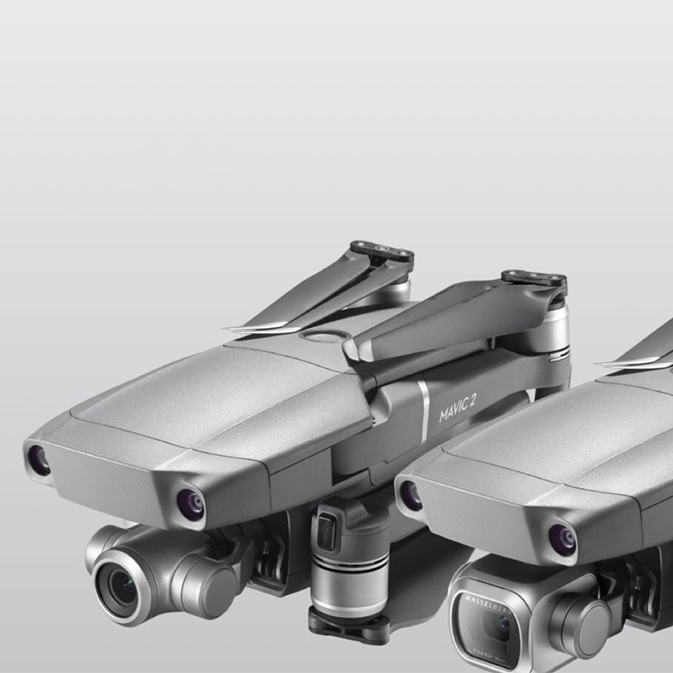 DJI Mavic 2 Pro and Zoom side by side