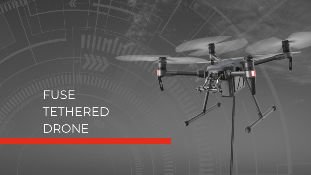 FUSE Tethered Drone Hero Image tethered fire drone tethered police drone