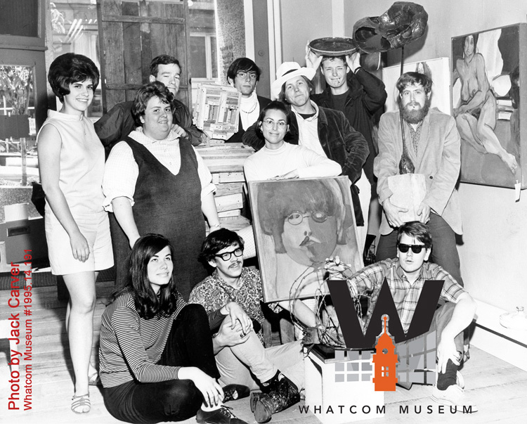 Courtesy of Whatcom Museum Photo Archives,Artists 1968, Photo by Jack Carver,WM#1995.14.191