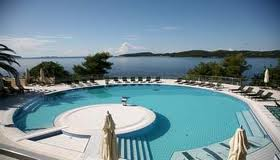 One of the pools at the Radisson Blu Dubrovnik.