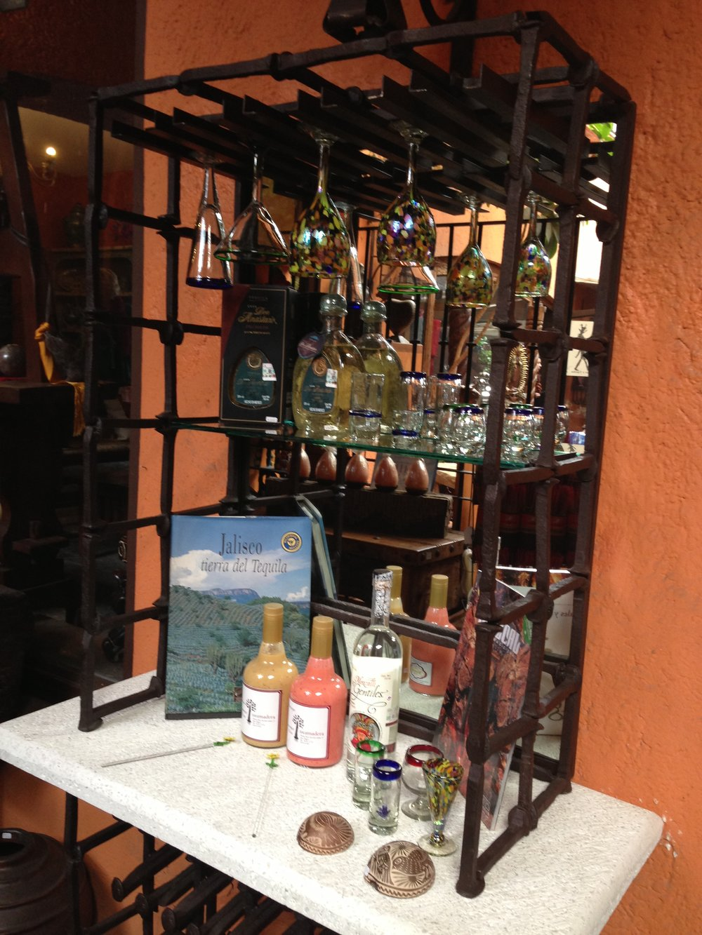 A selection of limited-edition tequilas and mezcals at the Bazzar Sabado.