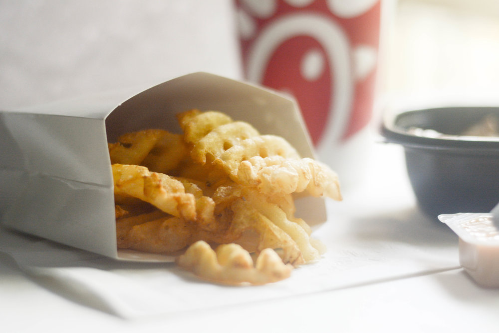 3.) Chick-Fil-A - It might be number 6 on the menu, but it's number one in my heart.Can I get an Amen for these life changing waffle fries?