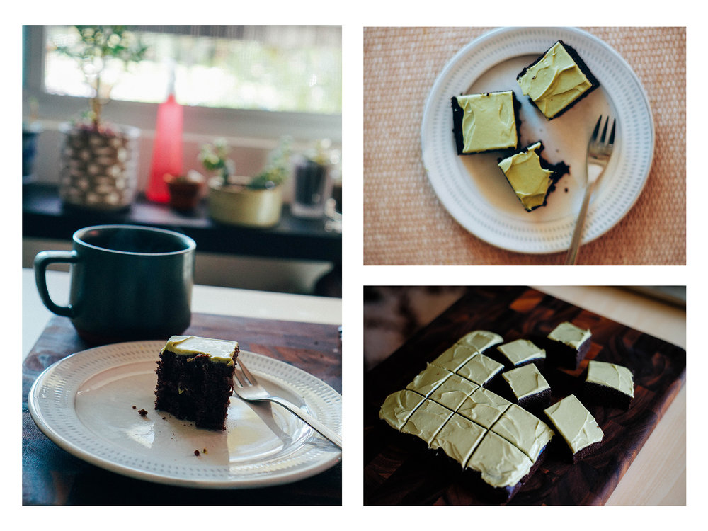 matcha chocolate cake and tea time!