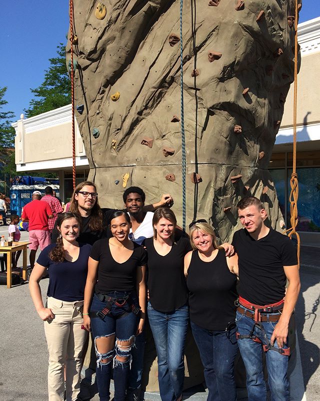 The Climb On crew had a great time working the WGN Block Party in Homewood this morning and then got to hang out for the parade! @wgnmorningnews #wgnmorningnews #blockparty #homewood #homesweethomewood #rockclimbing #climbon #climbing #indoorclimbinggym #climbonrockgym #familyowned #smallbusiness
