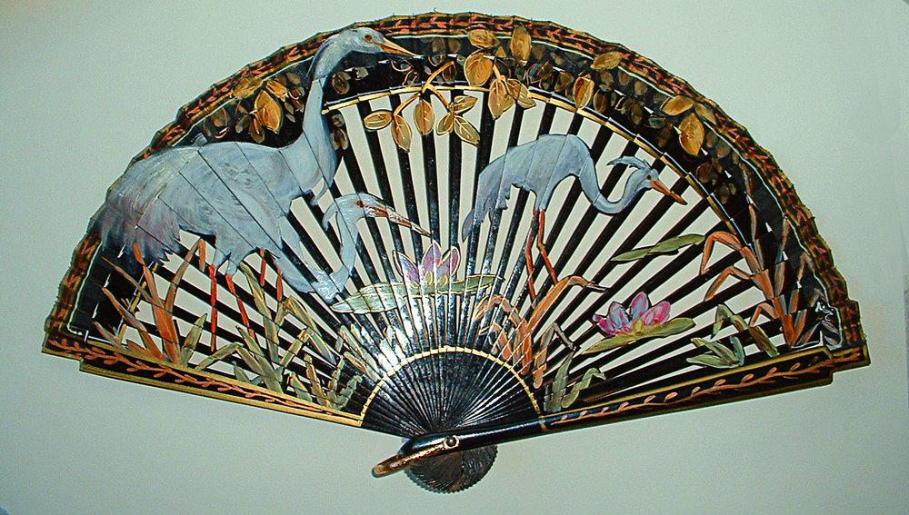 Blue Heron Fan