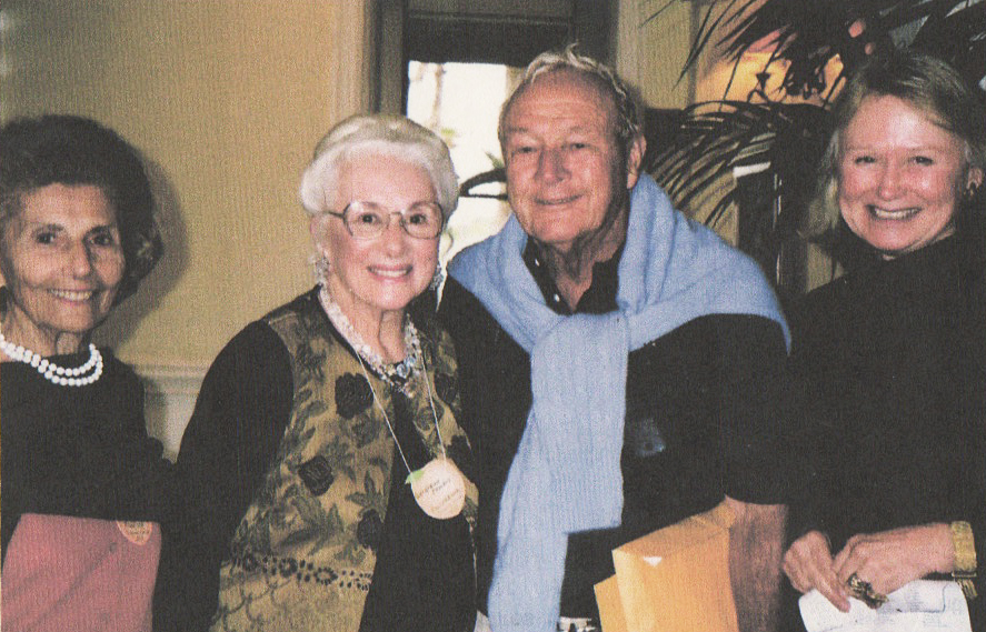 Getting Arnold Palmer's autograph in Savannah Georgia. Left to right: Melana Eskew, Geraldine Pember, Arnold Palmer, Pam Sher.