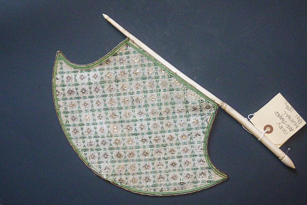 Ivory Axe-shaped Mughal Fan