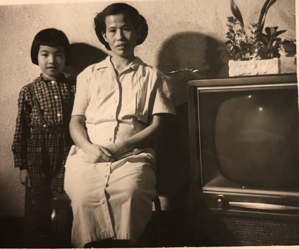 Cynthia with her MaMa, May Soon Yee, 133 Hudson Street, 1950s  (photo   courtesy of Cynthia Yee)