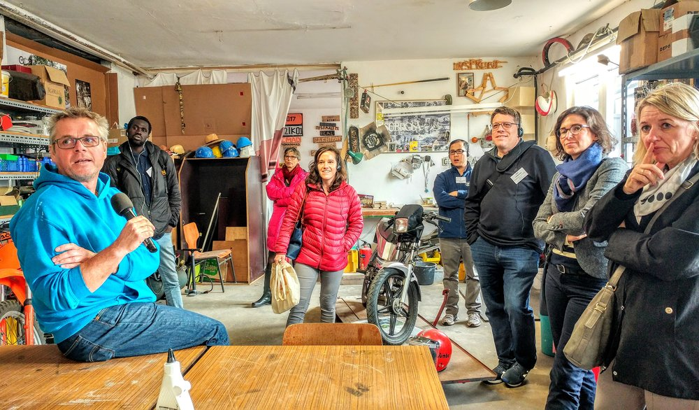 "At ""Ursprung"" in Frankfurt, an initiative that engages teenage newcomers through woodworking and crafts."