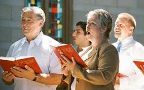 Image result for singing loudly at mass