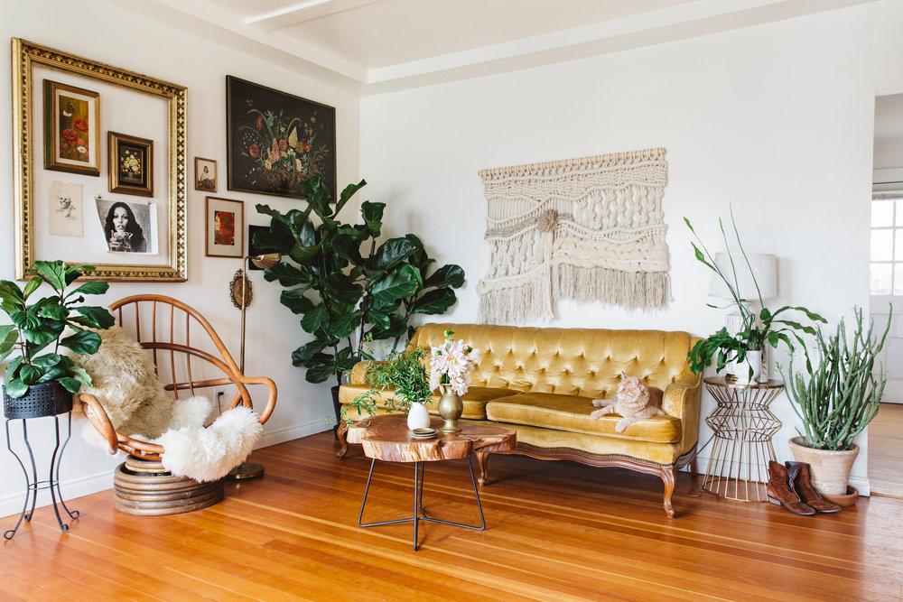 San Diego Magazine home feature - creative & florist Rachael Lunghi