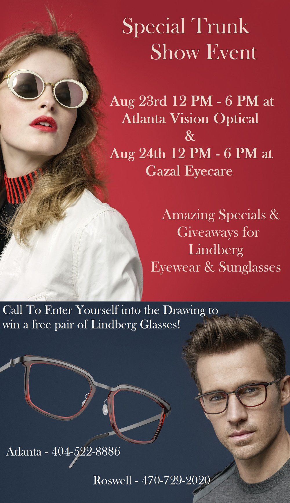 028779d5c92 Lindberg Trunk Show - Atlanta   Roswell — Atlanta Vision Optical