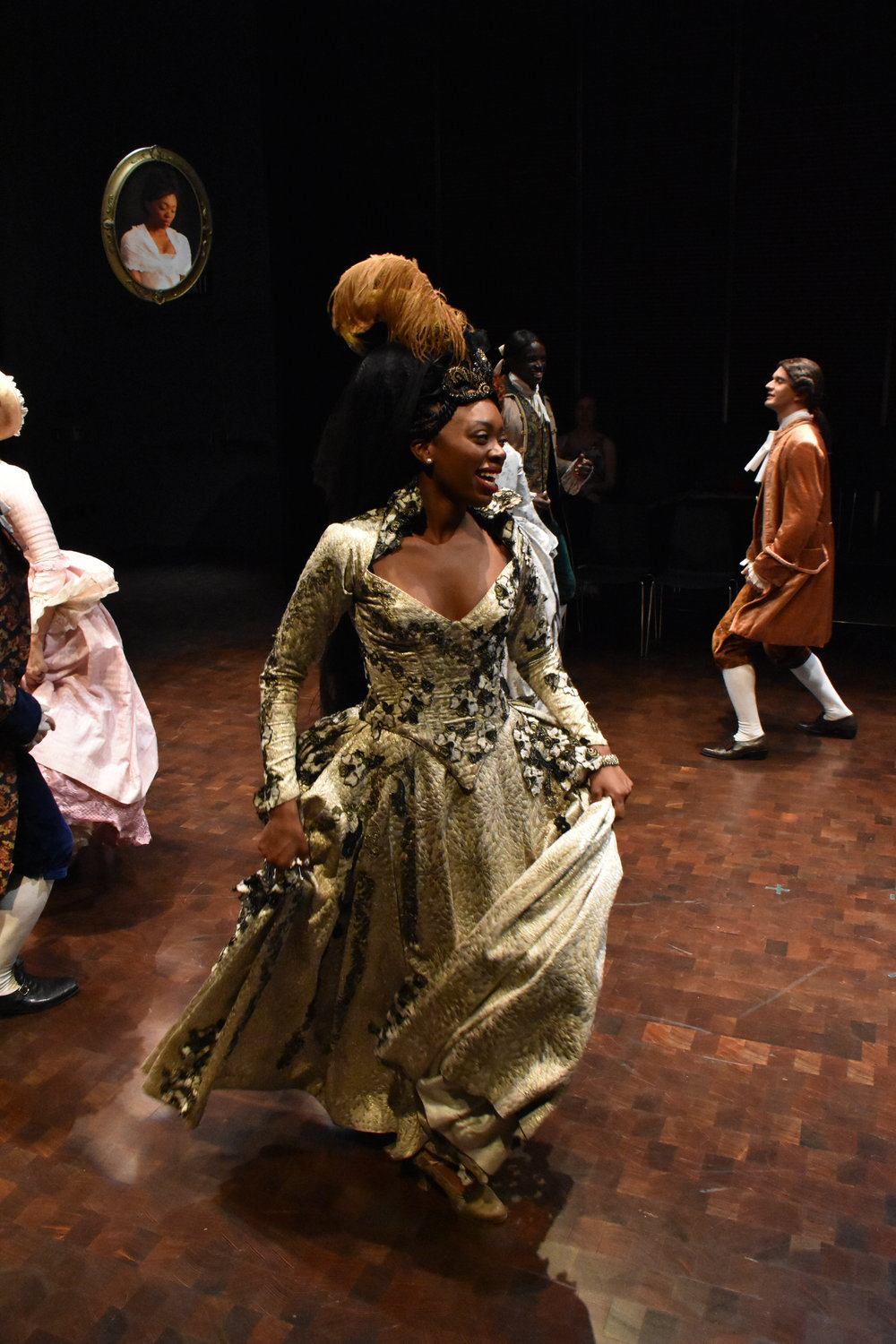 Akilah A. Walker as 'Belle' or 'Letitia Hardy' in 'The Belle's Stratagem'  Photo by Jay Yamada