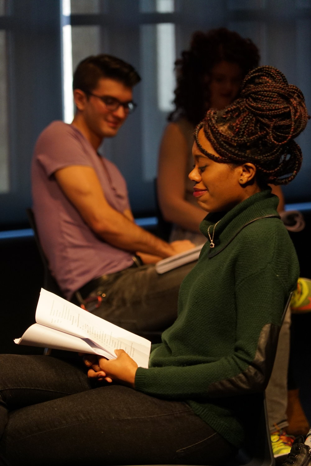 Akilah A. Walker as 'Janney' in a workshop of 'Promiscuous Cities'