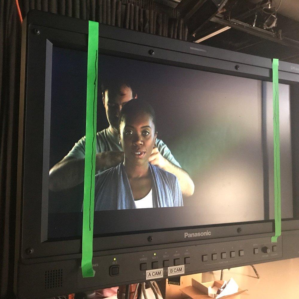 Akilah A. Walker as 'Gentlewoman' in film version of Macbeth