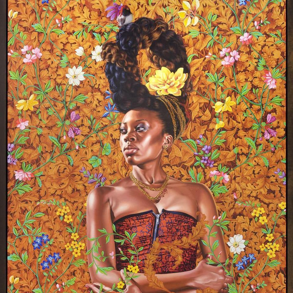 Akilah Walker, Portrait, Oil on Linen, 72x60 in  Photo Courtesy of Kehinde Wiley