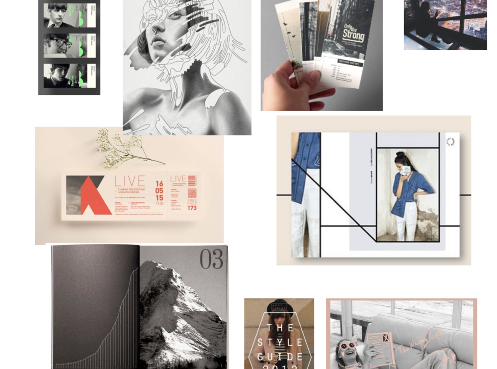 Mood board for promotional ideas...
