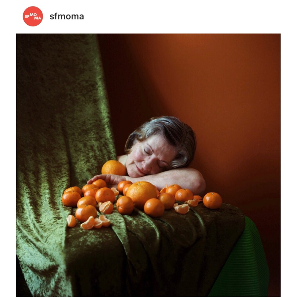Hare's 'Portrait of My Mother' on SF MOMA Instagram
