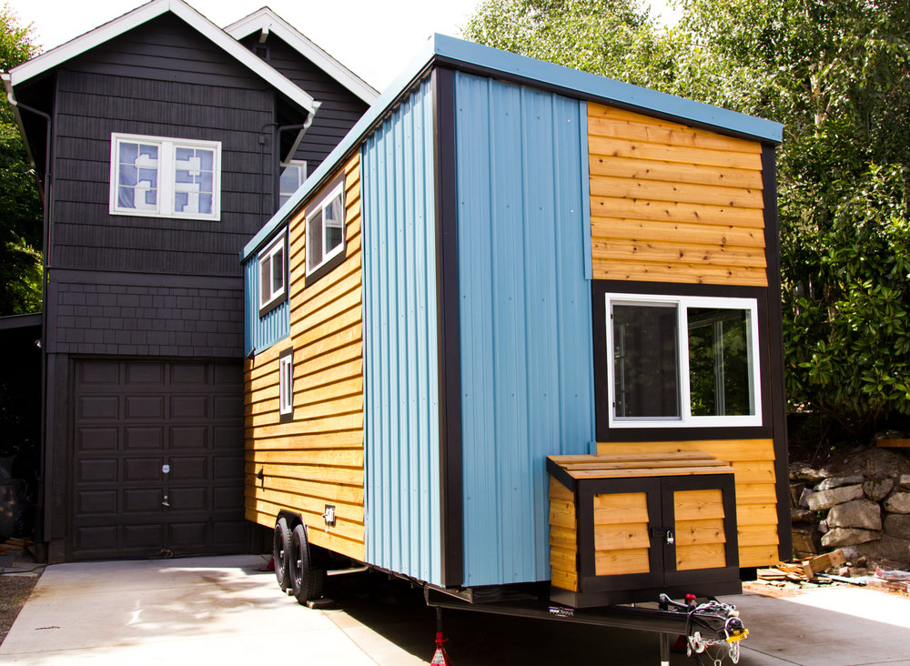 "Big Freedom Tiny Homes stand 13'6"" tall and 8'6"" wide"