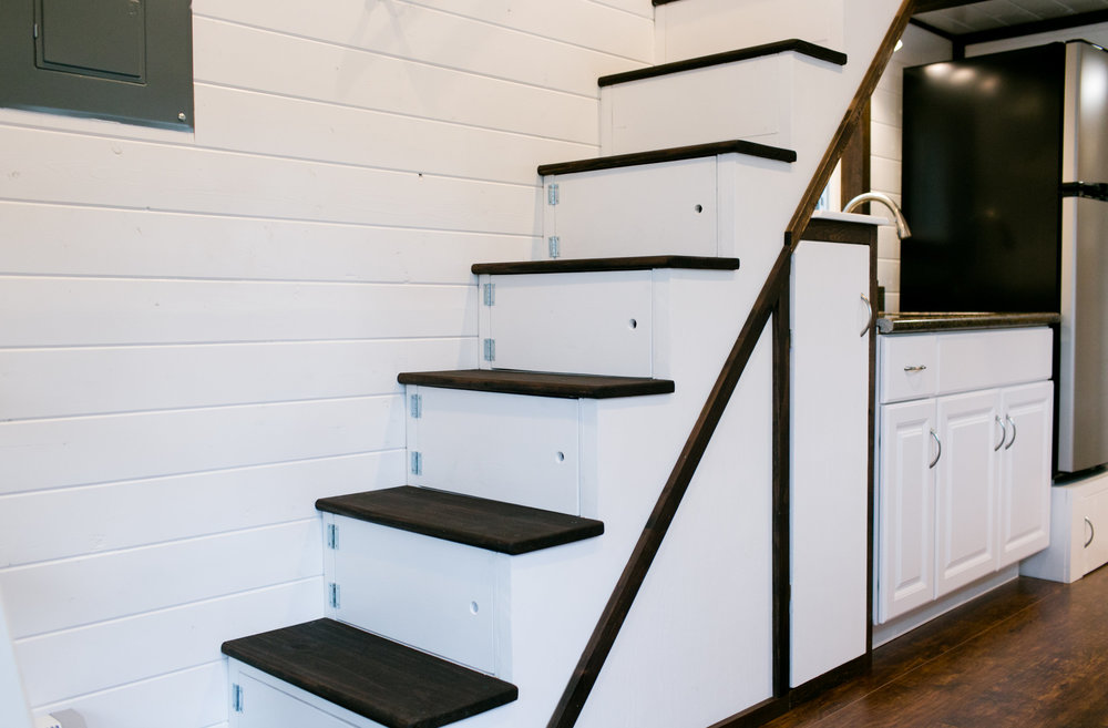 "26"" wide stairs for easy climbing"