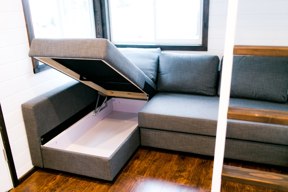 Storage inside couch