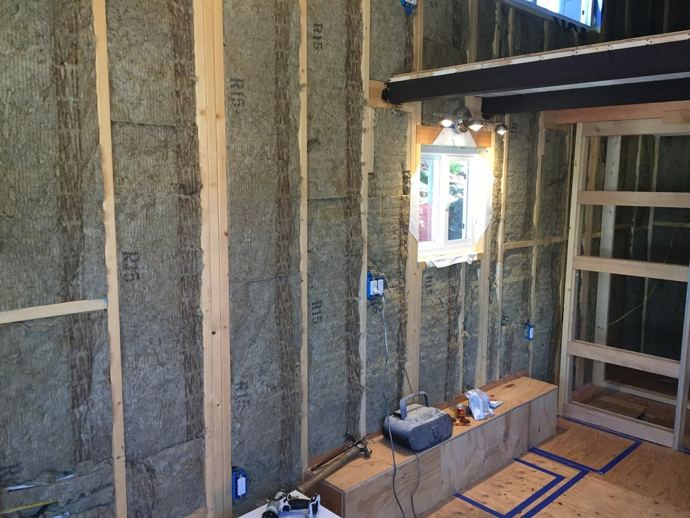 Roxul rock wool insulation throughout