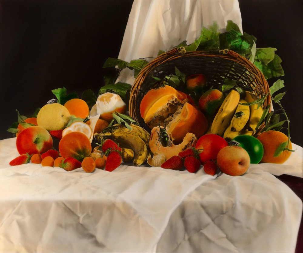 Huang Lei, Still Life 2008 (3-3), hand dyed with oil colour on gelatin silver print 黄磊 静物 2008 (3-3) 63 x 77cm 明胶卤化银黑白照片,手工油彩着色_compressed.jpg