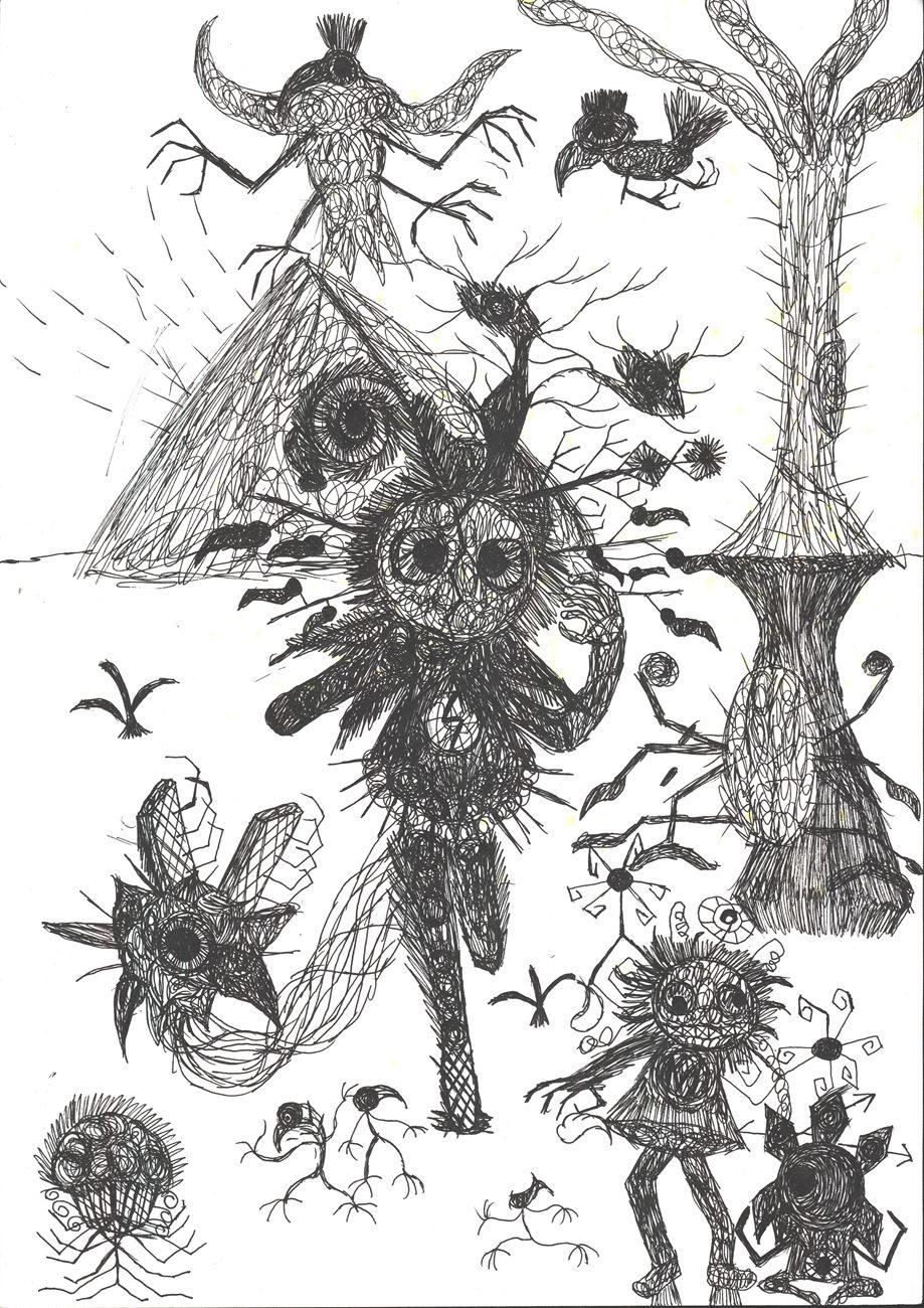 小燕子(智力障碍),无题(金字塔来客),2013,纸上马克笔,21×29.5cm.jpg